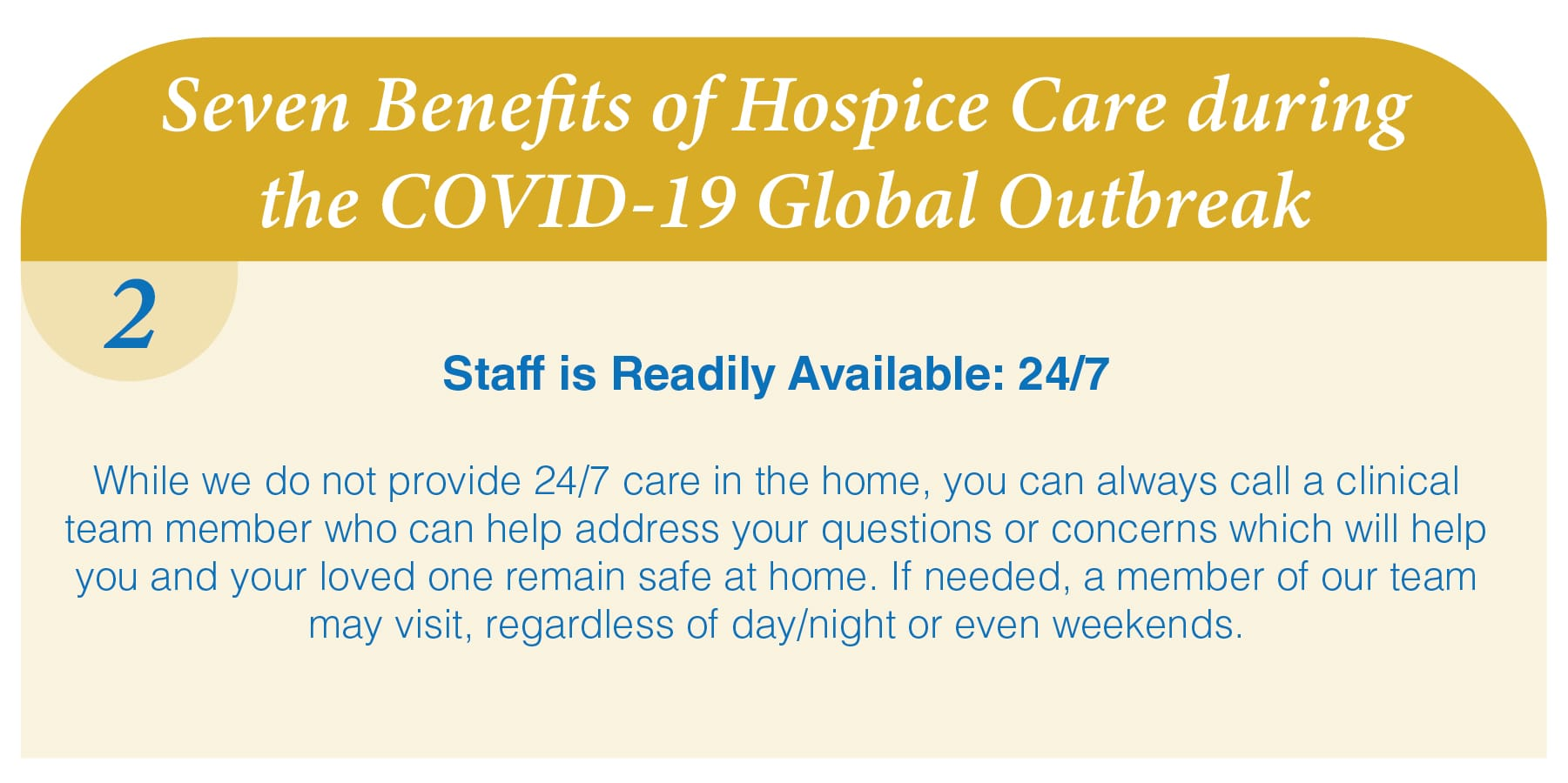 Reason #2: Hospice at Home is Safe and Effective